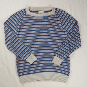 Peek 2XL 12 Sweater Boys Blue Gray Stripes Knit